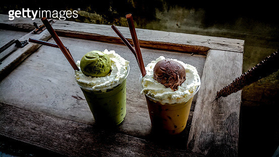 Close-Up Of Ice Creams On Table - gettyimageskorea