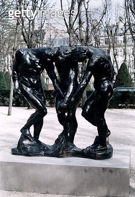 <b>Title</b> : The Three Shades, 1881 (bronze) (for details see 108013-14)<br><b>Medium</b> : <br><b>Location</b> : Musee Rodin, Paris, France<br> - gettyimageskorea