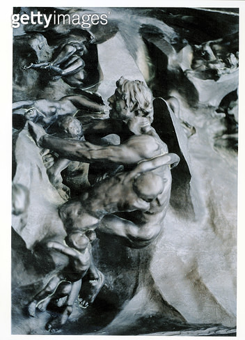 <b>Title</b> : The Gates of Hell, detail of Ugolino and his Sons, left-hand central panel, c.1887 (bronze)Additional Infohistorical 13th centur<br><b>Medium</b> : <br><b>Location</b> : Musee Rodin, Paris, France<br> - gettyimageskorea