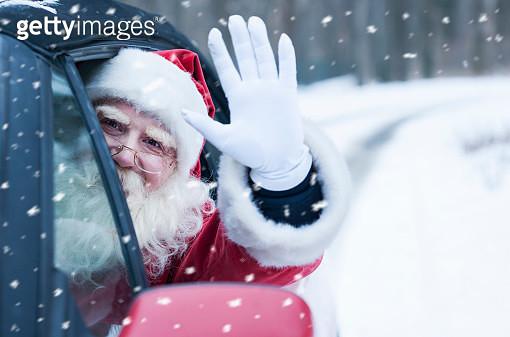 Santa Claus at car - gettyimageskorea