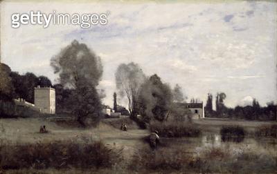 <b>Title</b> : Ville d'Avray, 1865 (oil on canvas)<br><b>Medium</b> : oil on canvas<br><b>Location</b> : Brooklyn Museum of Art, New York, USA<br> - gettyimageskorea