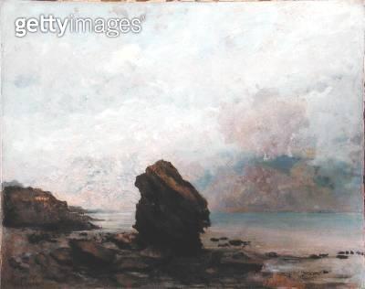 <b>Title</b> : The Isolated Rock, c.1862 (oil on canvas)<br><b>Medium</b> : oil on canvas<br><b>Location</b> : Brooklyn Museum of Art, New York, USA<br> - gettyimageskorea
