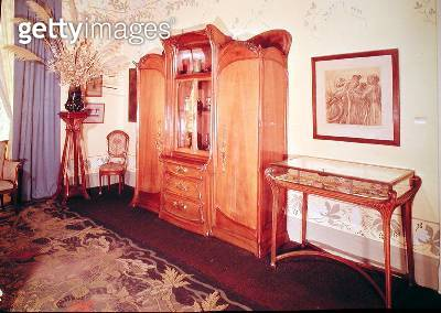 Art Nouveau bedroom/ c.1900 (photo) - gettyimageskorea