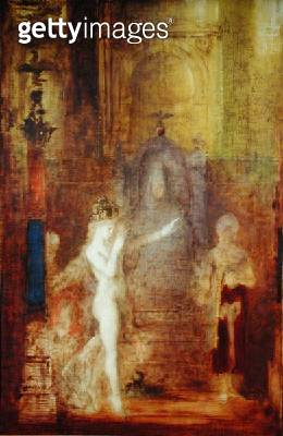 <b>Title</b> : Salome dancing before Herod, c.1876 (oil on panel)Additional Infodanced before Herod Antipas and asked for the head of St. John<br><b>Medium</b> : oil on panel<br><b>Location</b> : Musee Gustave Moreau, Paris, France<br> - gettyimageskorea