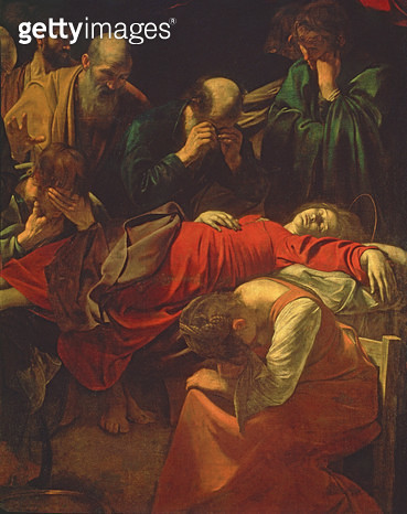 <b>Title</b> : The Death of the Virgin, 1605-06 (oil on canvas) (detail of 3678)<br><b>Medium</b> : oil on canvas<br><b>Location</b> : Louvre, Paris, France<br> - gettyimageskorea