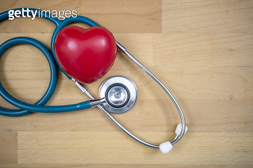 red heart with stethoscope, heart health, health insurance concept - gettyimageskorea