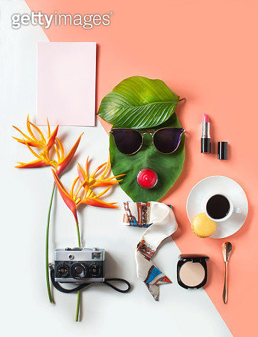 Conceptual women's lifestyle retail still life. - gettyimageskorea