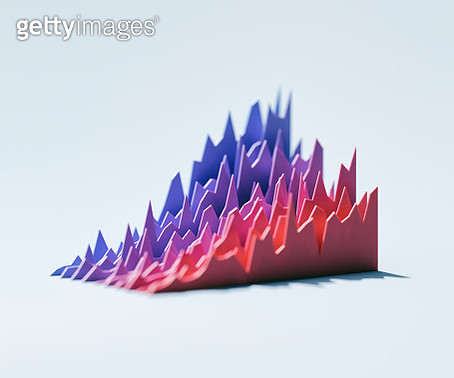 Red and blue graphs - gettyimageskorea