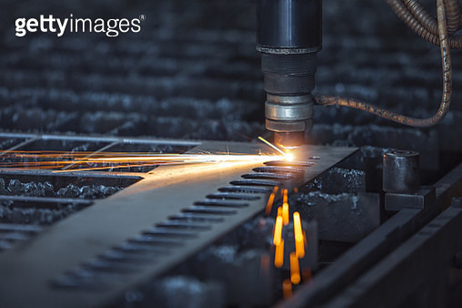Cnc Laser Cutting Of Metal, Modern Industrial Technology. Small - gettyimageskorea