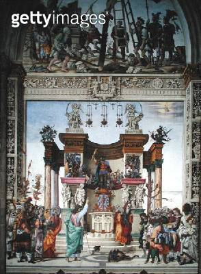 <b>Title</b> : St. Philip exorcizing the demon from the temple of Mars, south wall of Strozzi Chapel, c.1497-1502 (fresco)Additional Infosmell<br><b>Medium</b> : fresco<br><b>Location</b> : Santa Maria Novella, Florence, Italy<br> - gettyimageskorea