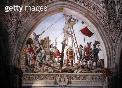 <b>Title</b> : Martyrdom of St. Philip, south wall of Strozzi Chapel, c.1497-1502 (fresco)<br><b>Medium</b> : <br><b>Location</b> : Santa Maria Novella, Florence, Italy<br> - gettyimageskorea