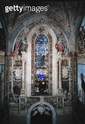 <b>Title</b> : East wall of Strozzi Chapel (photo)Additional Infowindow with Madonna and Child, two angels, John the Evangelist and St. Philip;<br><b>Medium</b> : <br><b>Location</b> : <br> - gettyimageskorea