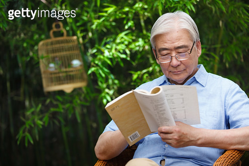 Elderly men leisure reading - gettyimageskorea