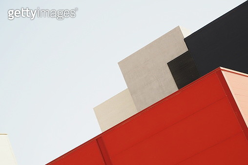Low Angle View Of Built Structure Against Clear Sky - gettyimageskorea