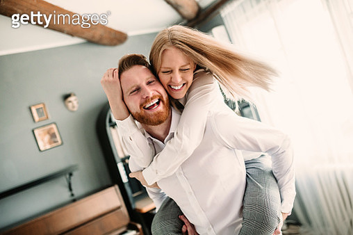 Young romantic couple in love hugging - gettyimageskorea