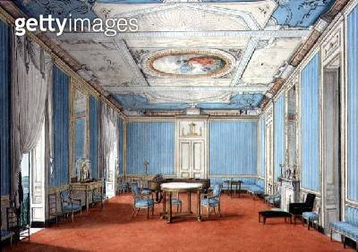 <b>Title</b> : A Neo-Classical Neopolitan Palazzo Interior, c.1830 (gouache and w/c on paper)<br><b>Medium</b> : gouache and watercolour on paper<br><b>Location</b> : Private Collection<br> - gettyimageskorea