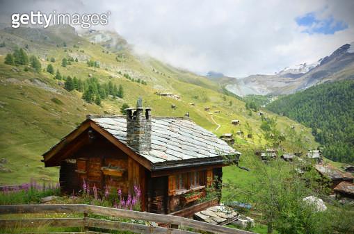 Swiss Chalet Near Zermatt - gettyimageskorea