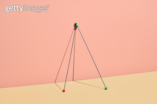 still life with sticks and colored marbles symbolizing choice an to be singled out. - gettyimageskorea