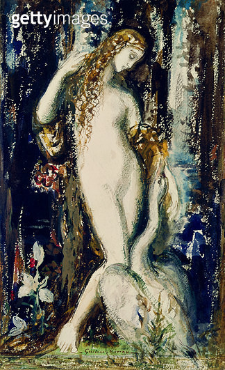 <b>Title</b> : Leda (w/c on paper)<br><b>Medium</b> : watercolour on paper<br><b>Location</b> : Musee Gustave Moreau, Paris, France<br> - gettyimageskorea
