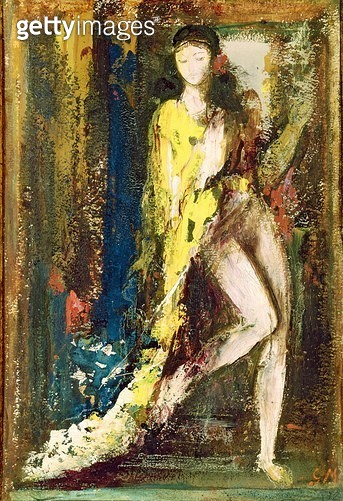 <b>Title</b> : Delilah (w/c on paper)<br><b>Medium</b> : watercolour on paper<br><b>Location</b> : Musee Gustave Moreau, Paris, France<br> - gettyimageskorea