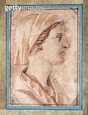 <b>Title</b> : Head of a Woman in Profile (pen & ink on paper)Additional InfoTete de Femme de Profil;<br><b>Medium</b> : pen and ink on paper<br><b>Location</b> : Musee Conde, Chantilly, France<br> - gettyimageskorea