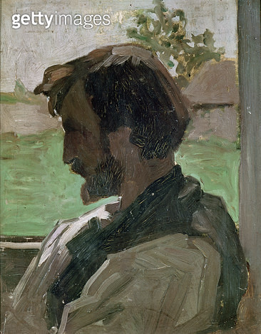 <b>Title</b> : Self Portrait at Saint-Saveur, 1868 (oil on panel)<br><b>Medium</b> : oil on panel<br><b>Location</b> : Musee Fabre, Montpellier, France<br> - gettyimageskorea