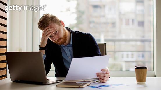 Young businessman under stress - gettyimageskorea