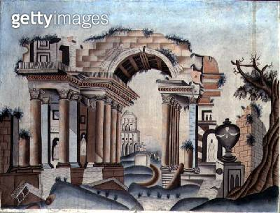 <b>Title</b> : Neo-Classical Ruins, c.1820 (w/c on paper)<br><b>Medium</b> : watercolour on paper<br><b>Location</b> : Private Collection<br> - gettyimageskorea