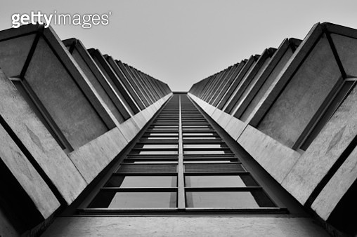 Low Angle View Of Building Against Clear Sky - gettyimageskorea