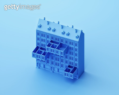 Apartments pulled out of a building like drawers - gettyimageskorea