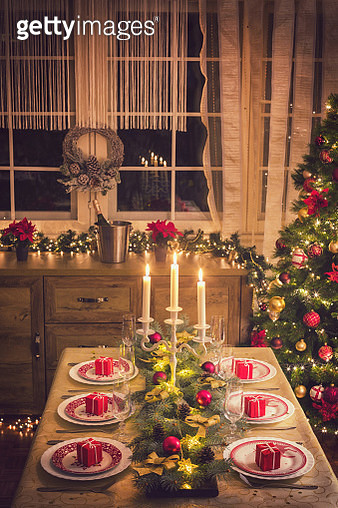 Elegant Christmas Dining Table - gettyimageskorea