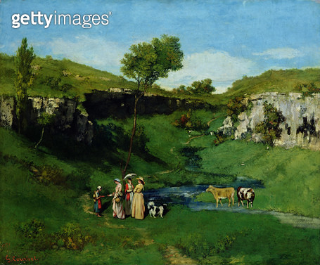 <b>Title</b> : The Village Maidens, 1851 (oil on canvas)<br><b>Medium</b> : oil on canvas<br><b>Location</b> : Leeds Museums and Galleries (City Art Gallery) U.K.<br> - gettyimageskorea