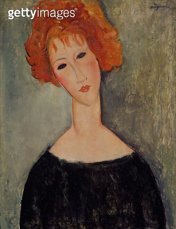 <b>Title</b> : Red Head (oil on canvas)<br><b>Medium</b> : oil on canvas<br><b>Location</b> : Private Collection<br> - gettyimageskorea