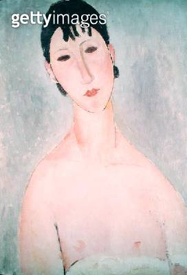 <b>Title</b> : Torso of a girl with brown hair (Elvira) 1919 (oil on canvas)<br><b>Medium</b> : oil on canvas<br><b>Location</b> : Private Collection<br> - gettyimageskorea