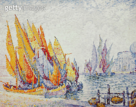 <b>Title</b> : Venice, Sailing Boats, 1908 (oil on canvas)<br><b>Medium</b> : oil on canvas<br><b>Location</b> : Private Collection<br> - gettyimageskorea
