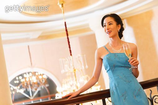 Beautiful Oriental woman - gettyimageskorea