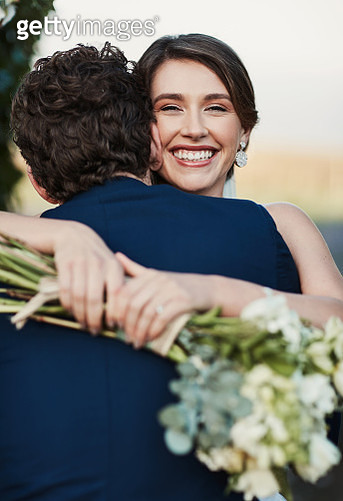 Cropped shot of a happy middle aged couple on their wedding day - gettyimageskorea