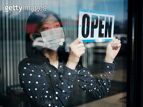 Business Owner Open Sign - gettyimageskorea