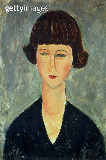 <b>Title</b> : Young Brunette, 1917 (oil on canvas)<br><b>Medium</b> : oil on canvas<br><b>Location</b> : Private Collection<br> - gettyimageskorea
