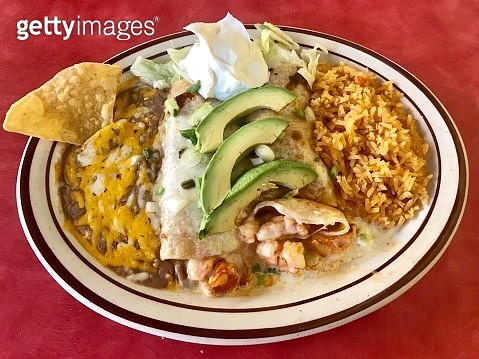 Mexican Shrimp Enchiladas for Lunch - gettyimageskorea
