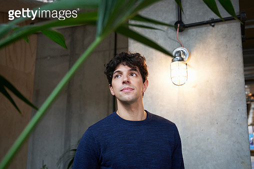 portrait of young man in office - gettyimageskorea