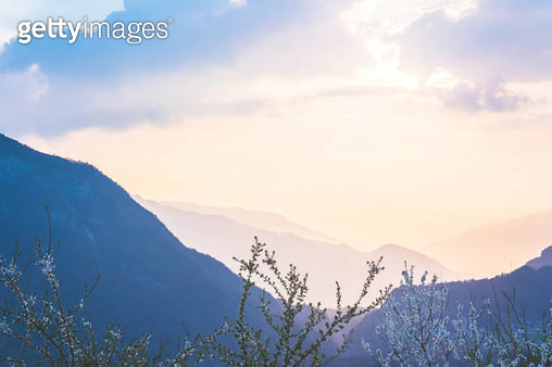 Spring sunset in the Dolomites - gettyimageskorea