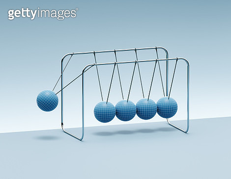 Newton's Cradle with globes - gettyimageskorea
