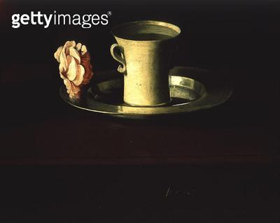 <b>Title</b> : Still Life (oil on canvas) (detail of 209896)<br><b>Medium</b> : oil on canvas<br><b>Location</b> : Norton Simon Collection, Pasadena, CA, USA<br> - gettyimageskorea