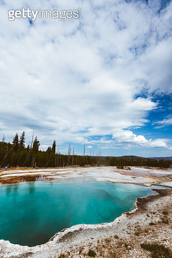 yellowstone national park hot spring - gettyimageskorea