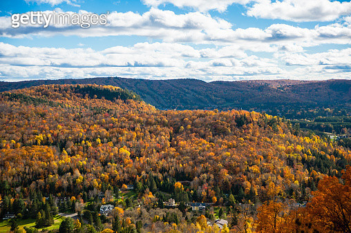Laurentian Mountains and Forest in Autumn - gettyimageskorea