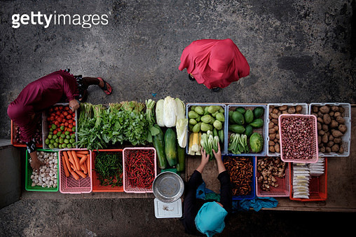 Various Vegetables For Sale In Market - gettyimageskorea