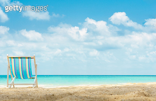 Low Angle View Of Beach Chair - gettyimageskorea