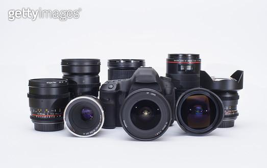 카메라와 렌즈들 - gettyimageskorea