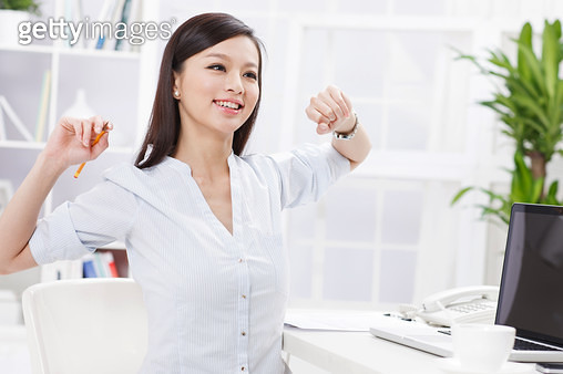 Young business woman happy work - gettyimageskorea